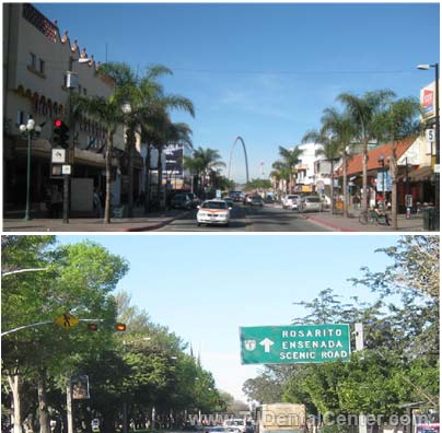 Avenida Revolucion and Signboard to Ensenada