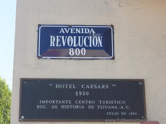 Caesars Hotel on Avenida Revolucion in TJ